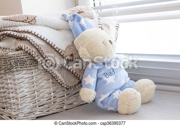 Blauwe jongen speelgoed kinderen houten kamer accessoires
