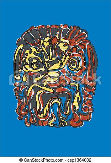 blauwe , leeuw - csp1364002