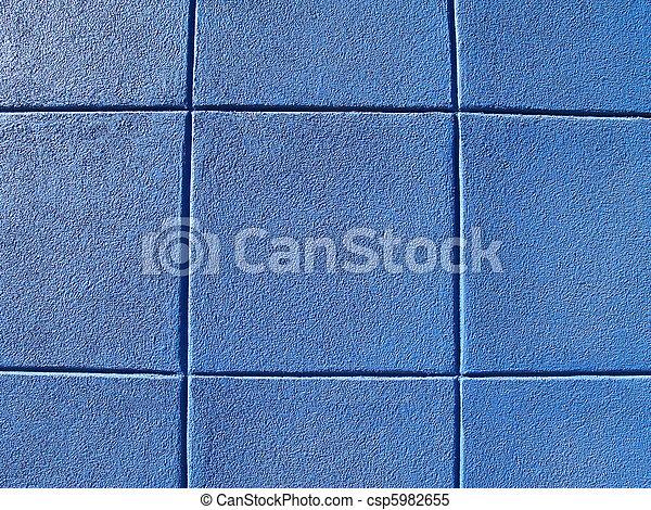 blauwe muur, blok - csp5982655