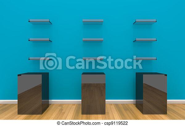 Muur Planken Aan De Muur.Blauwe Muur Kleur Planken Blauwe Vloer Muur Planken Kleur Hout