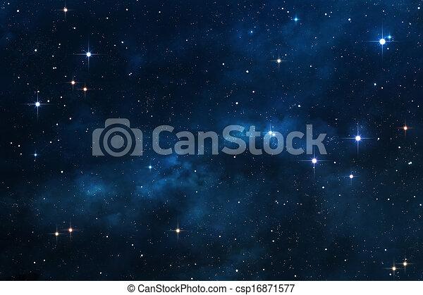 blauwe , nebula, achtergrond, ruimte - csp16871577