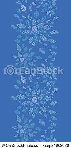 blauwe , peony, verticaal, model, seamless, textiel, achtergrond, bloemen - csp21969820