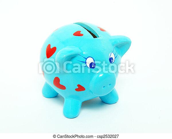 blauwe piggy bank - csp2532027