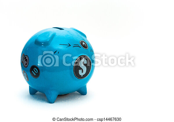 blauwe piggy bank - csp14467630