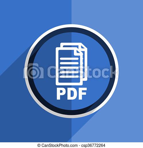 blauwe , plat, pictogram, web, moderne, dollar, ontwerp, e:/svg/570.jpg, pdf, pictogram - csp36772264