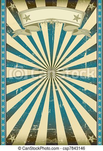 blauwe , retro, achtergrond, textured - csp7843146
