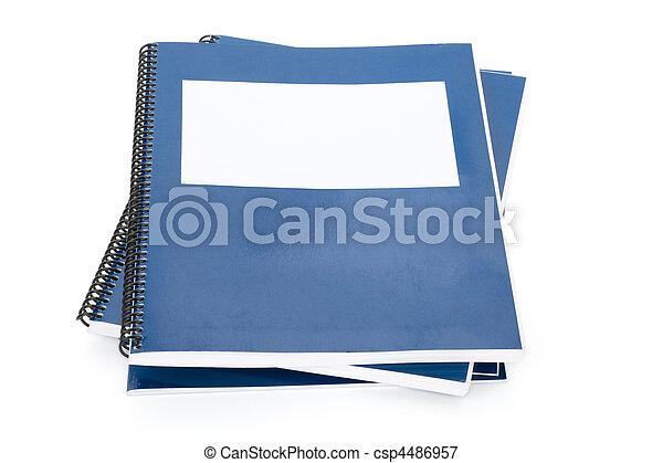 blauwe , school, schoolboek - csp4486957