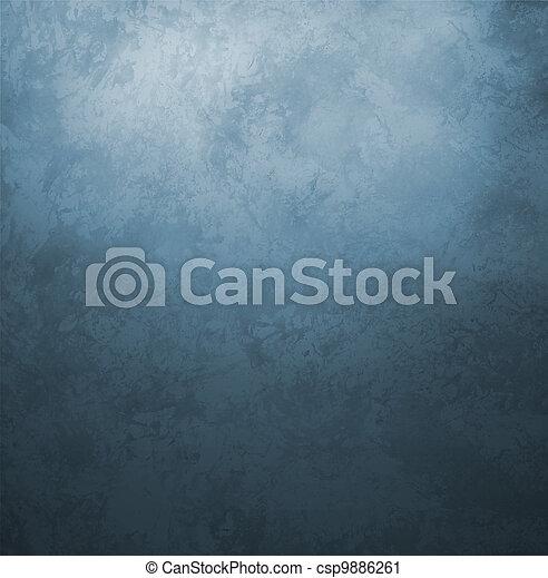 blauwe , stijl, oud, ouderwetse , donker, papier, retro, achtergrond, grunge - csp9886261