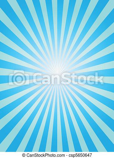 blauwe , sunray, achtergrond - csp5650647