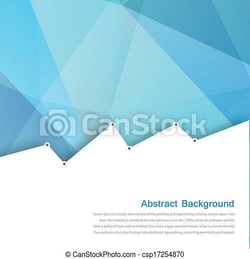 blauwe , veelhoek, abstract, achtergrond., vector, kaart - csp17254870