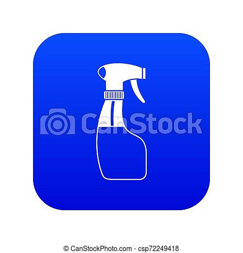 blauwe , verpulveren, pictogram, digitale  - csp72249418