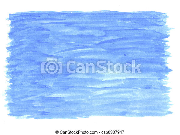 blauwe , wassen, watercolour - csp0307947