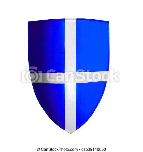 blauwe , witte , kruisvaarder, vrijstaand - csp39148650