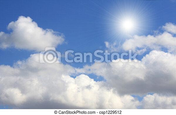 blauwe , zon, hemel - csp1229512