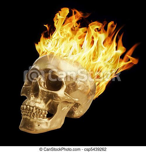 Blazing Skull - csp5439262