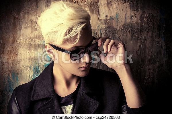 bleaching hair - csp24728563