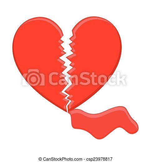 bleeding heart artistic broken heart with blood vector art rh canstockphoto com broken heart clipart png