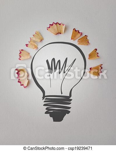 Bleistift Begriff Licht Hand Papier Hintergrund Gezeichnet Staub Zwiebel Kreativ Säge