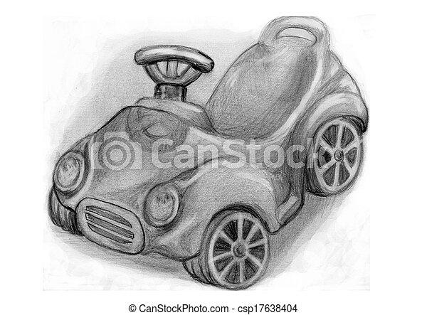 Bleistift Zeichnen Kinder Auto Bleistift Auto Kinder