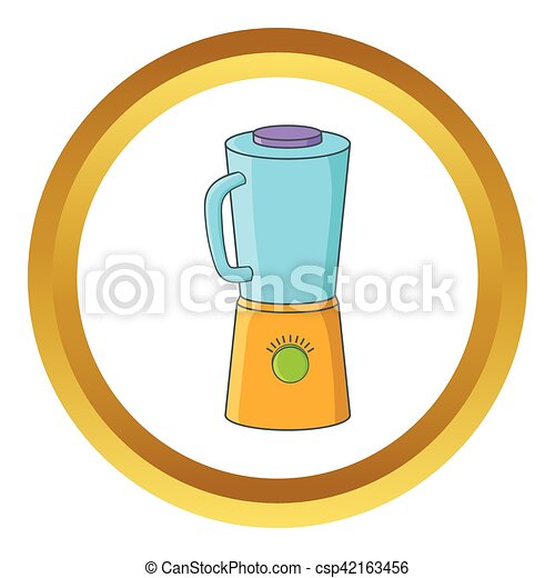 Blender Vector Icon In Golden Circle Cartoon Style Isolated On White Background