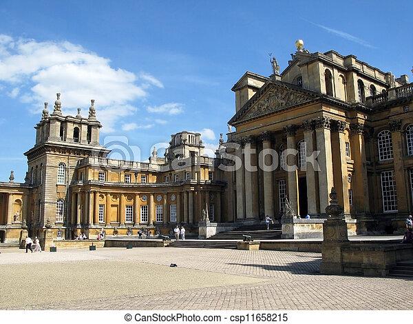 Blenheim Palace - Marlborough Estate, Churchill's birthplace. England. - csp11658215