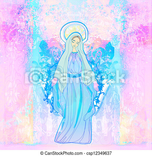 Blessed Virgin Mary  - csp12349637