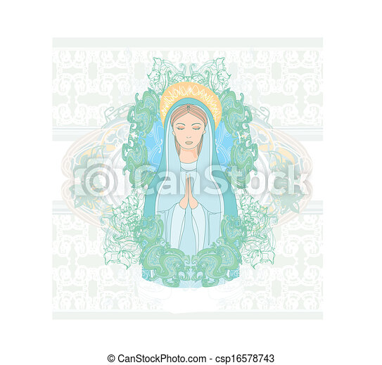 Blessed Virgin Mary portrait  - csp16578743