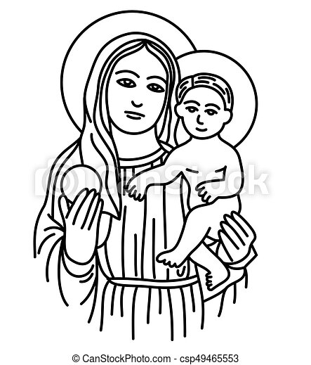 Clip art of the blessed virgin mary pics 813