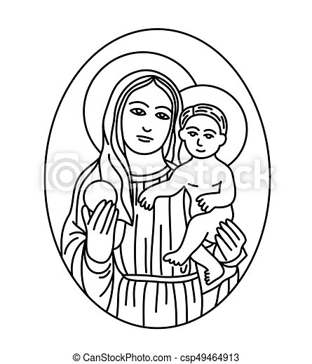 Clip art of the blessed virgin mary pics 113
