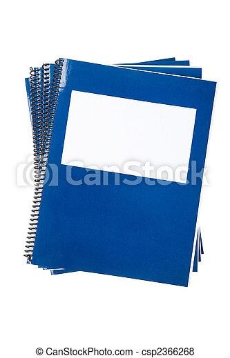 bleu, école, manuel - csp2366268