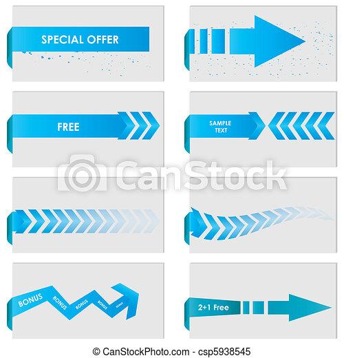 bleu, étiquette papier - csp5938545