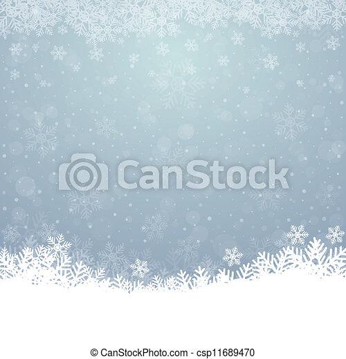 bleu, étoiles, neige, fond, automne, blanc - csp11689470