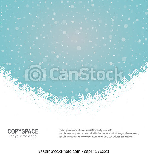 bleu, étoiles, neige, fond, snowflake blanc - csp11576328