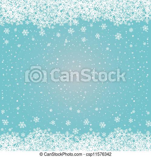 bleu, étoiles, neige, fond, snowflake blanc - csp11576342