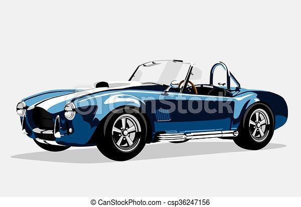 bleu ac voiture classique shelby cobra sport roadster clipart vectoriel rechercher. Black Bedroom Furniture Sets. Home Design Ideas