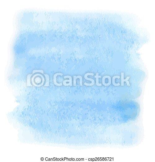 bleu, aquarelle - csp26586721