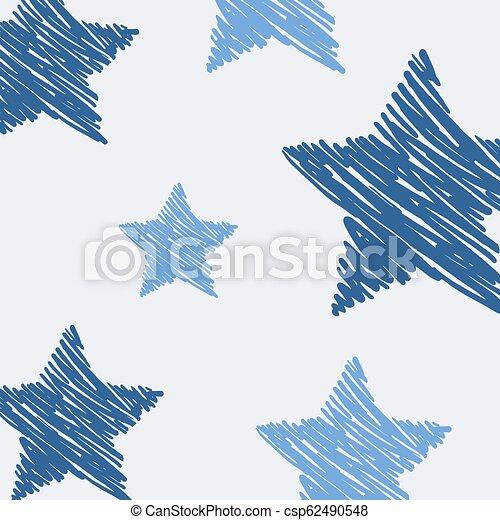 bleu, art, étoiles, fond - csp62490548