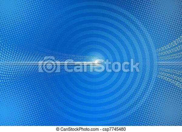 bleu, binaire, résumé, code, fond - csp7745480