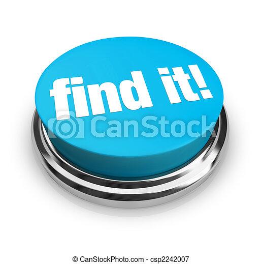 bleu, bouton, -, trouver, il - csp2242007