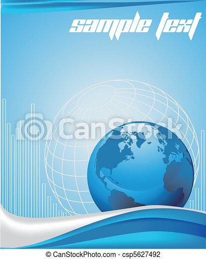 bleu, business, fond - csp5627492