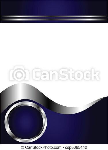 bleu, business, royal, gabarit, blanc, argent, carte - csp5065442