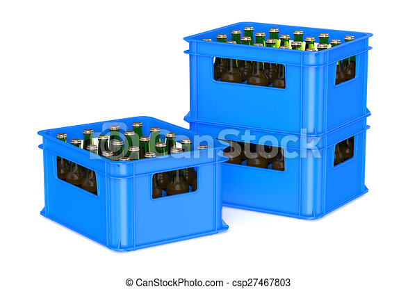 bleu caisse bire entiers bouteilles csp27467803 - Caisse Biere Plastique