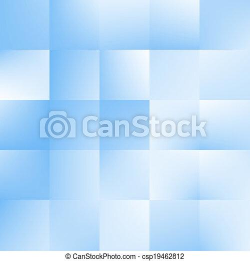 bleu, carrés, fond - csp19462812