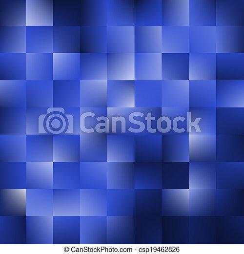 bleu, carrés, fond - csp19462826