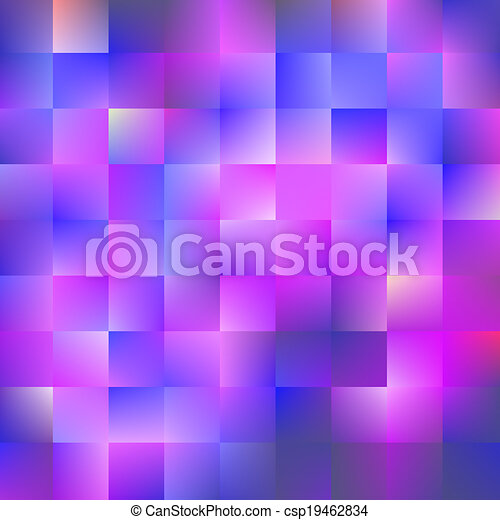 bleu, carrés, fond, violet - csp19462834