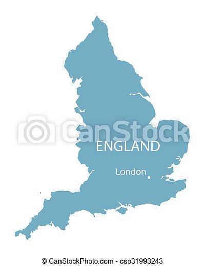 Carte Londres Angleterre.Bleu Carte Angleterre Vecteur Indication Londres