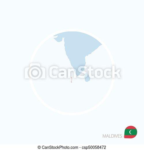 Carte Asie Maldives.Bleu Carte Maldives Maldives Asie Color Mis Valeur Sud