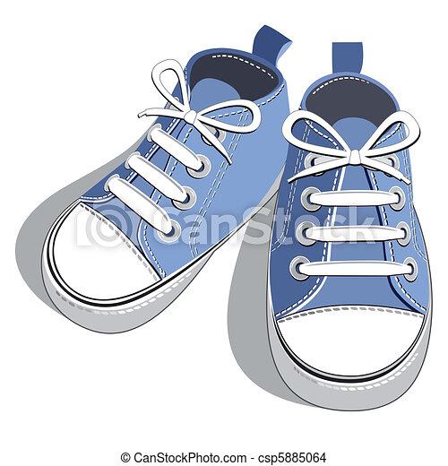 bleu, chaussures - csp5885064