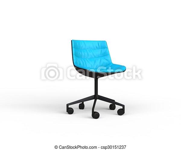 Bleu Clair Moderne Chaise Bureau Bleu Bureau Moderne Arriere
