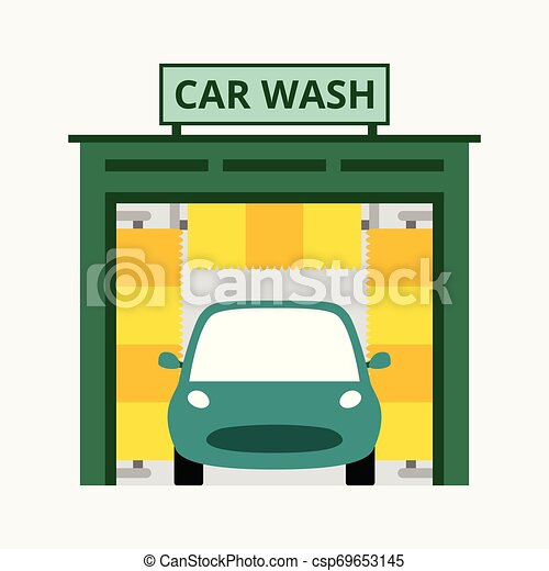 bleu, concept, business, voiture, isolé, illustration, laver, vecteur, fond - csp69653145